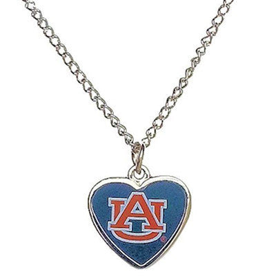 Auburn Tigers Necklace - Logo Heart Necklace