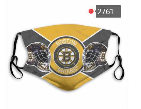 Boston Bruins Face Mask - Reuseable, Fashionable, Washable, Several Styles