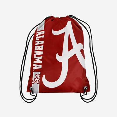 Alabama Crimson Tide Backpack - Big Logo Drawstring Backpack
