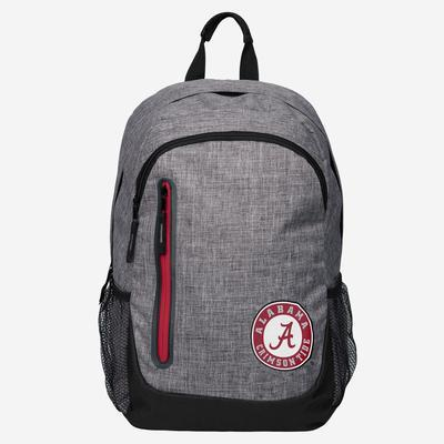 Alabama Crimson Tide Backpack - Heather Grey Bold Color Backpack