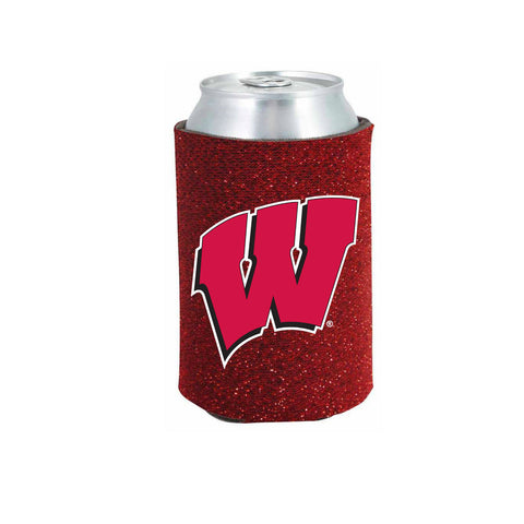 Wisconsin Badgers Glitter Can Koozie