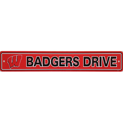 "Wisconsin Badgers Street Sign - 4""x24"""