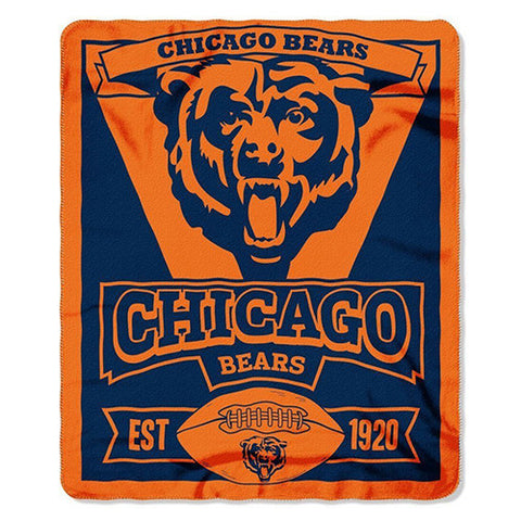 "Chicago Bears Blanket - Fleece Blanket (50"" x 60"")"
