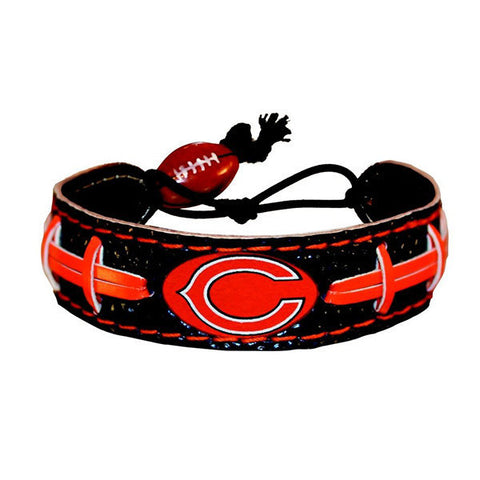 Chicago Bears Bracelet - Leather Football Bracelet