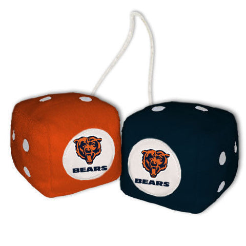Chicago Bears Dice - Plush Fuzzy Dice