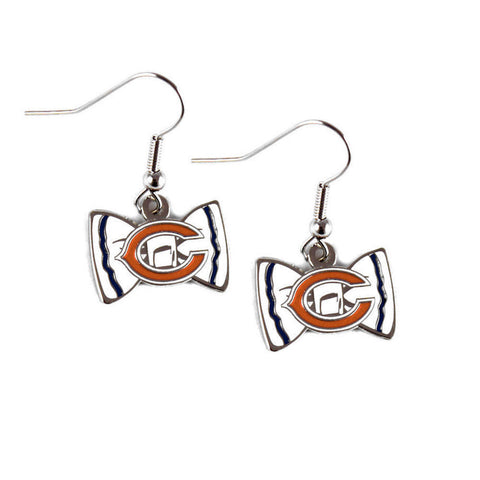 Chicago Bears Earrings - Bow-Tie Dangle Earrings