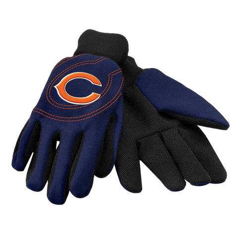 Chicago Bears Gloves - Raised Logo Gloves