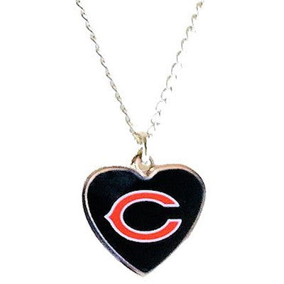 Chicago Bears Necklace - Logo Heart Necklace