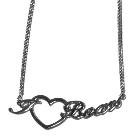 Chicago Bears Necklace - Heart Script Necklace