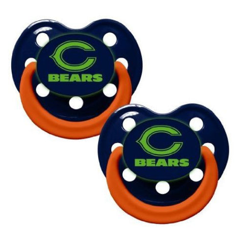 Chicago Bears Baby Pacifiers- Glow In The Dark  - Pack Of 2