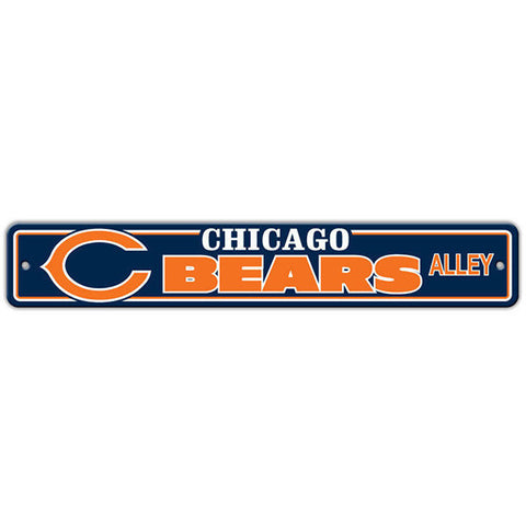 "Chicago Bears Street Sign - 4""x24"""