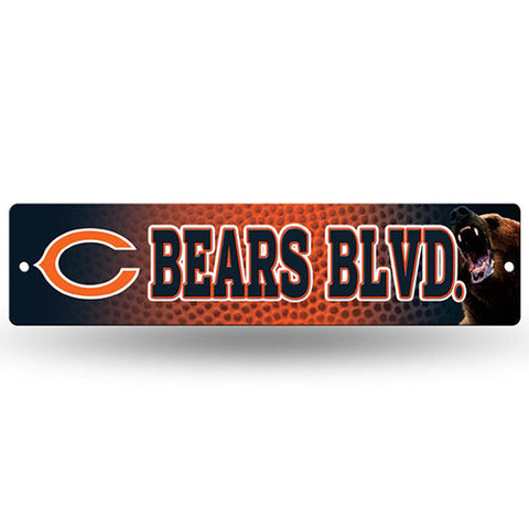 "Chicago Bears Street Sign - 3.75"" x 16"""