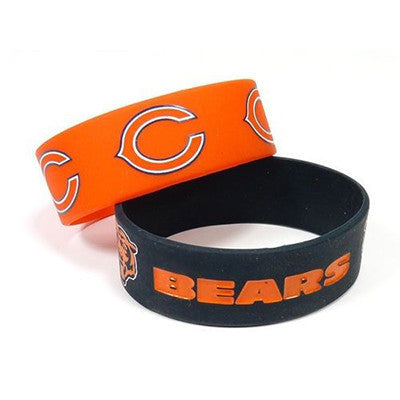 Chicago Bears Bracelet - Rubber Wrist Bands