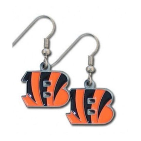 Cincinnati Bengals Earrings - Logo Dangle Earrings