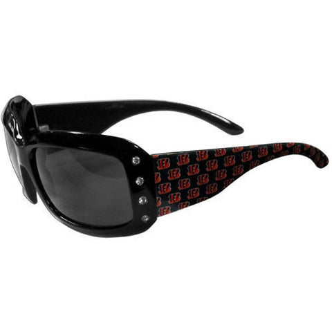 Cincinnati Bengals Sunglasses - Ladies Rhinestone Sunglasses