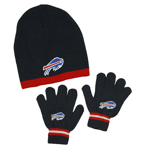 135463bdef7 Buffalo Bills Hat - Kid s Knitted Winter Hat And Gloves Set ...