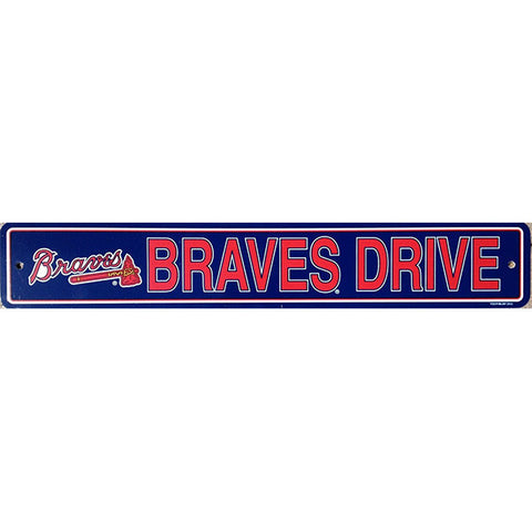 "Atlanta Braves Sign - Street Sign - 4""x24"""