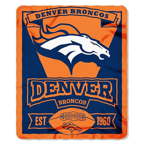 "Denver Broncos Blanket - Fleece Blanket (50"" x 60"")"