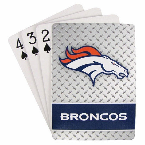 Denver Broncos Playing Cards -Diamond Plate