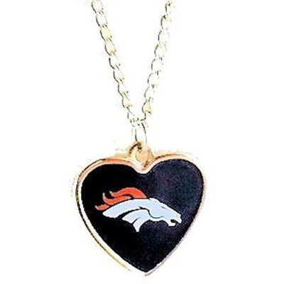 Denver Broncos Necklace - Logo Heart Necklace