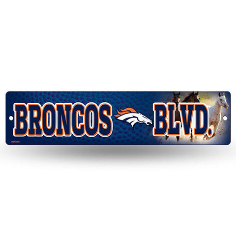 "Denver Broncos Street Sign - 3.75"" x 16"""