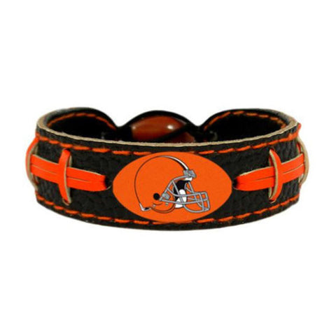 Cleveland Browns Bracelet - Leather Football Bracelet