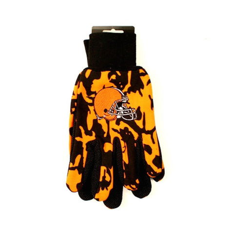 Cleveland Browns Gloves - Camo Utility Work Gloves