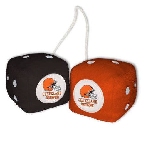Cleveland Browns Dice - Plush Fuzzy Dice
