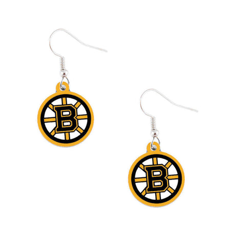 Boston Bruins Earrings - Logo Dangle Earrings
