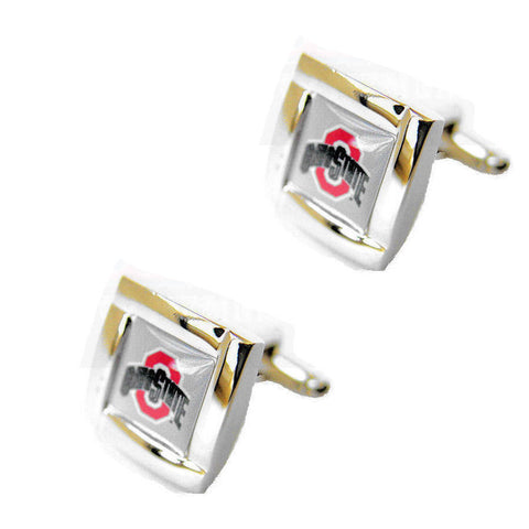 Ohio State Buckeyes Square Cuff Links