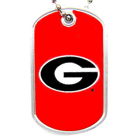 Georgia Bulldogs Necklace - Dog Tag Necklace
