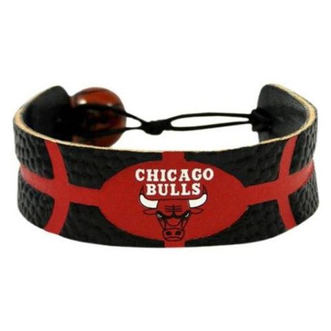 Chicago Bulls Bracelet - Leather Basketball Bracelet