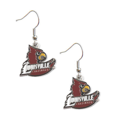 Louisville Cardinals Logo Dangle Earrings