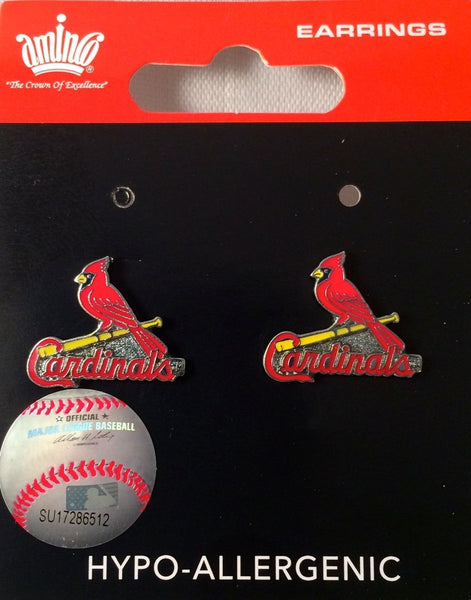 St. Louis Cardinals Earrings - Logo Stud Earrings
