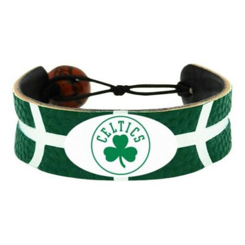 Boston Celtics Bracelet - Leather Basketball Bracelet