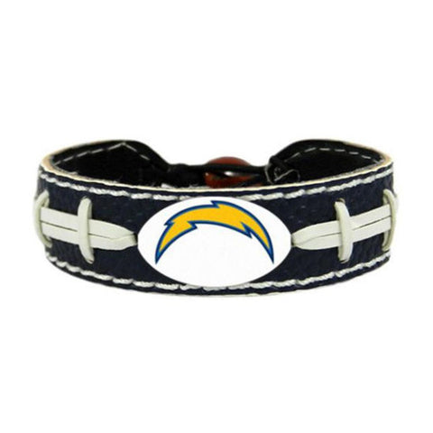 Los Angeles Chargers Leather Football Bracelet