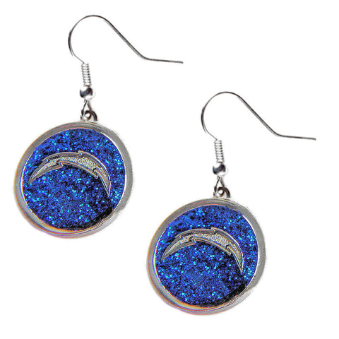 Los Angeles Chargers Glitter Logo Dangle Earrings