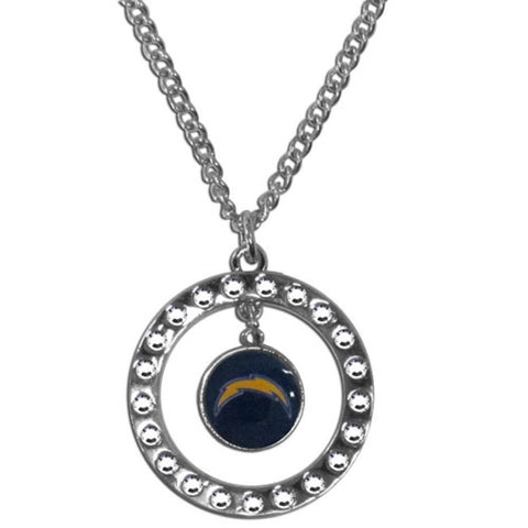 Los Angeles Chargers Rhinestone Hoop Necklace