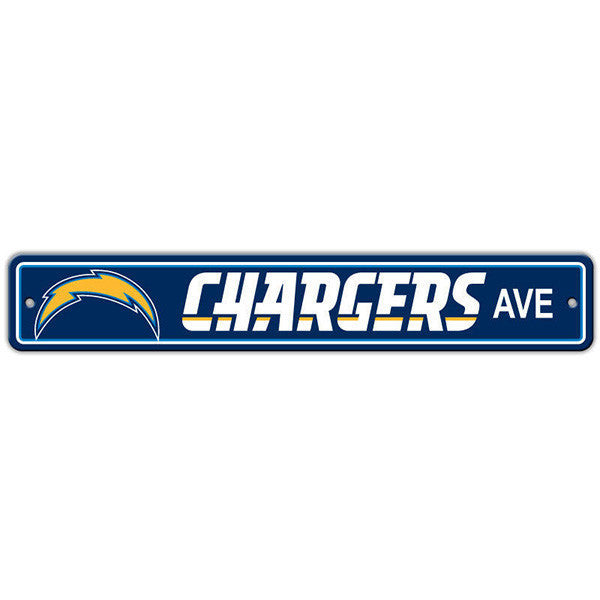 "Los Angeles Chargers Street Sign - 4""x24"""