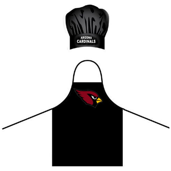 Arizona Cardinals Apron and Chef Hat for Barbecuing
