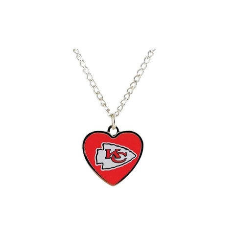 Kansas City Chiefs Necklace - Logo Heart Necklace