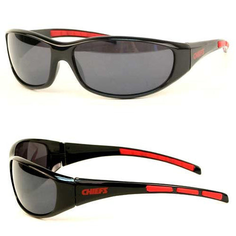 Kansas City Chiefs Sunglasses - 3 Dot Team Logo Series Sport Sunglasses