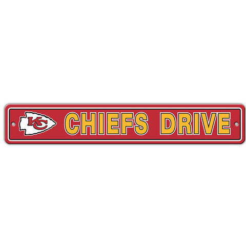"Kansas City Chiefs Sign - Street Sign - 4""x24"""