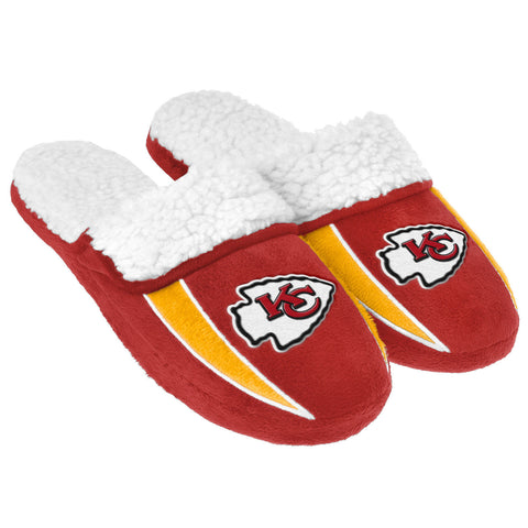 Kansas City Chiefs Slippers - Sherpa Slide Slippers