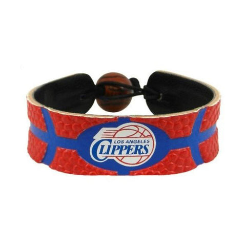 Los Angeles Clippers Leather Basketball Bracelet