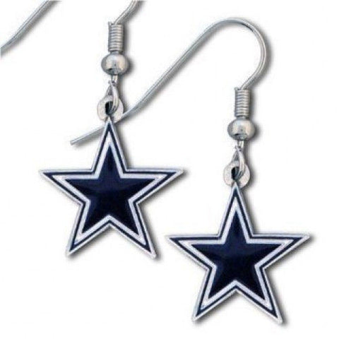Dallas Cowboys Earrings - Logo Dangle Earrings