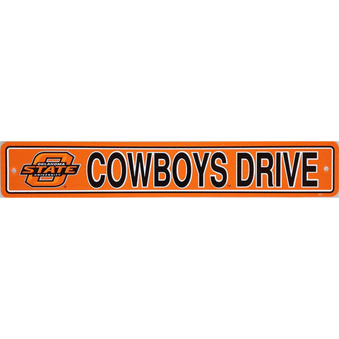 "Oklahoma State Cowboys Street Sign - 4""x24"""