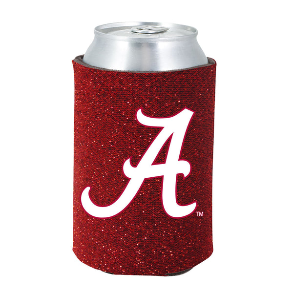 Alabama Crimson Tide Koozie - Glitter Can