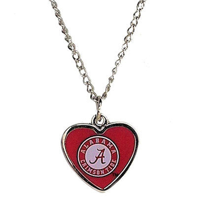 Alabama Crimson Tide Necklace - Logo Heart