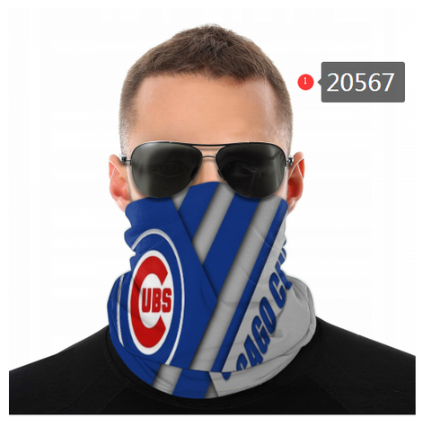 Chicago Cubs Face Mask - Bandana Scarf, Reuseable, Washable
